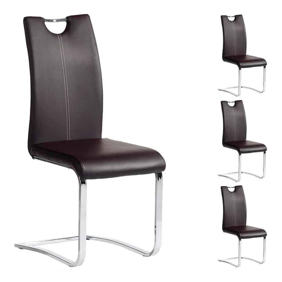 Esszimmerstuhl Schwingstuhl SABA, Set mit 4 Stühlen